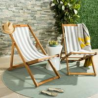 Safavieh Loren Outdoor Glam Foldable Sling Chair, Set of 2