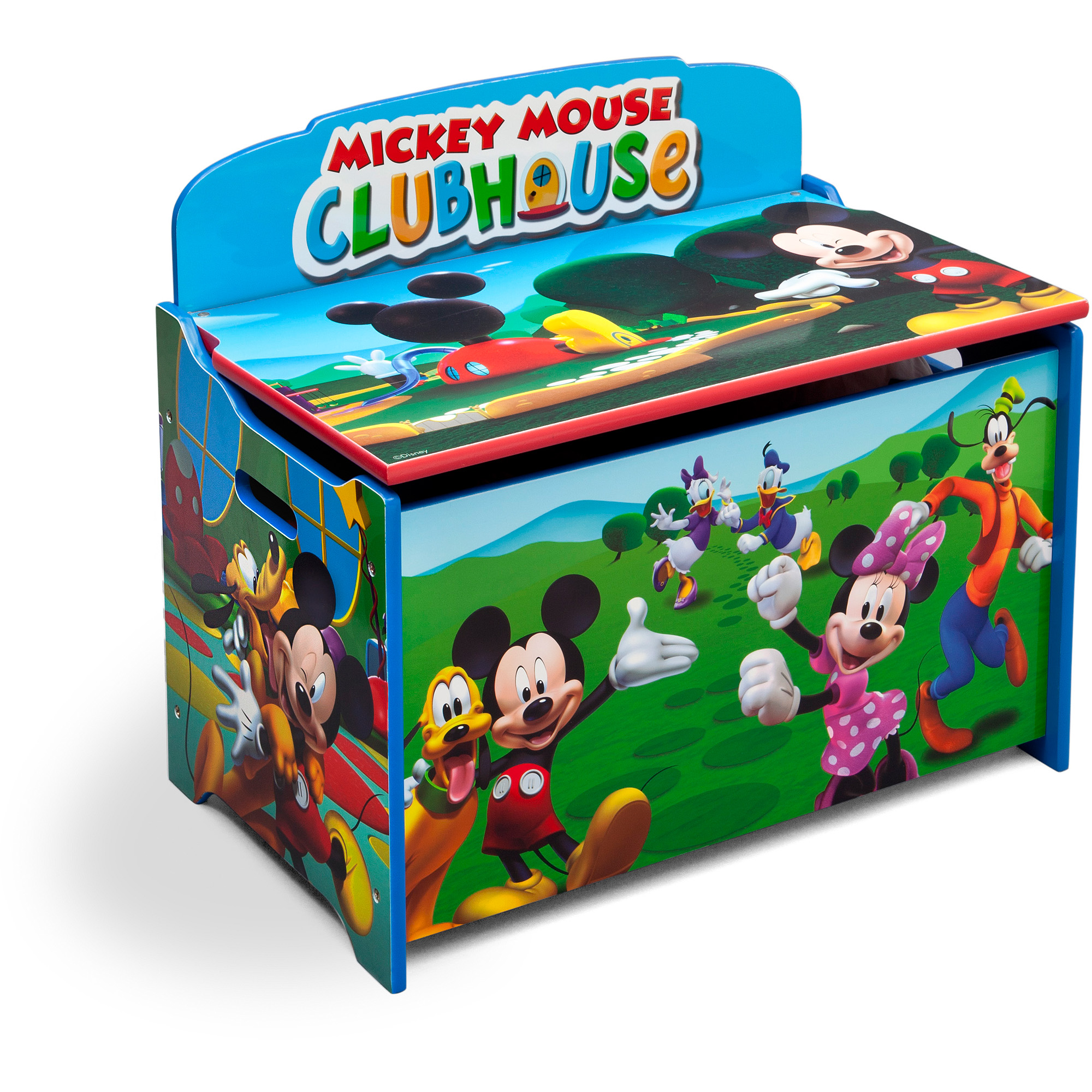 disney mickey mouse deluxe wood toy boxdelta children