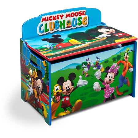 - Disney Mickey Mouse Deluxe Wood Toy Box by Delta Children