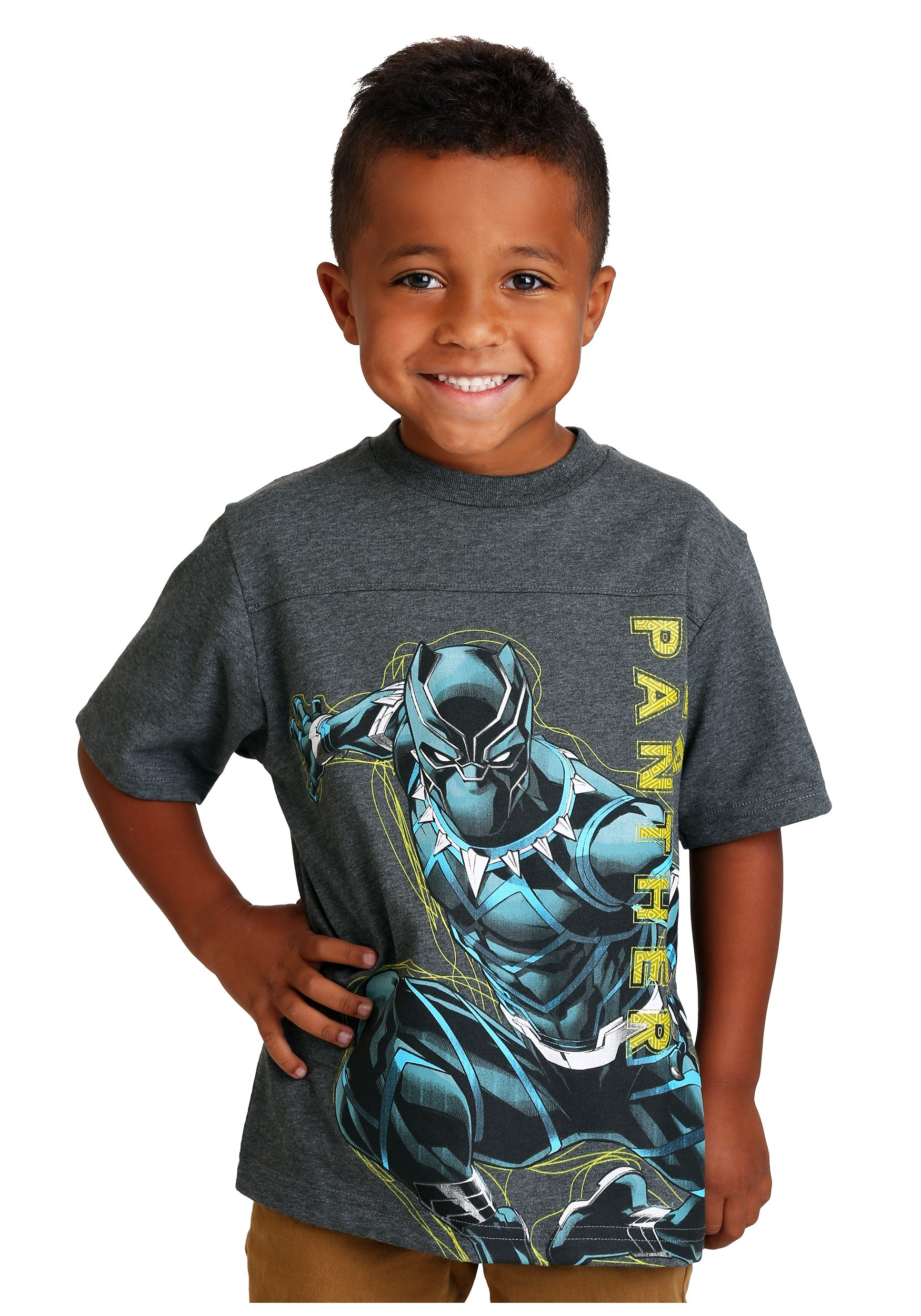 7be6dd77 Marvel Black Panther Glow In The Dark Boys Graphic T-Shirt   8