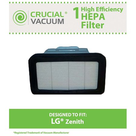 HEPA Exhaust Filters for Fits LG Kompressor LuV300B, LuV400T Vacuums; Compare to LG Part No. ADQ72913001; Designed & Engineered by Think Crucial By Crucial