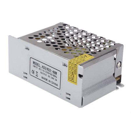 AC 100V~240V to DC 24V 2A 48W Voltage Transformer Switch Power Supply for Led Strip
