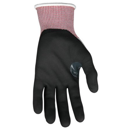 Memphis Glove X-Large Gray, Red And Black Ninja 15 Guage DSM Dyneema Diamond Tech, Nylon And Fiberglass Cut Resistant Gloves With Knit Wrist And Black Nitrile Foam Coating On Palm And Fingers