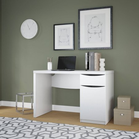 Bush Furniture Avalon Collection Pure White Computer Desk (Avalon Bedroom Collection)