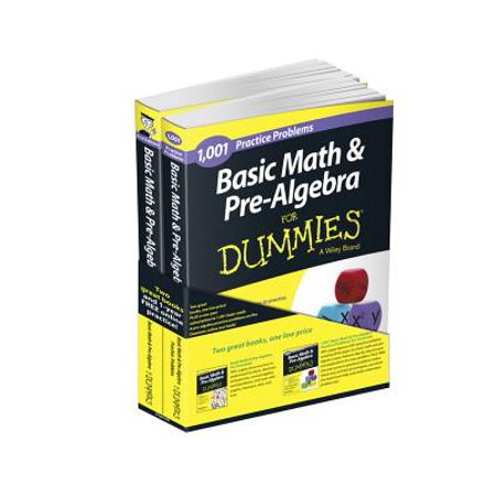 Basic Math and Pre-Algebra: Learn and Practice 2 Book Bundle with 1 Year  Online Access