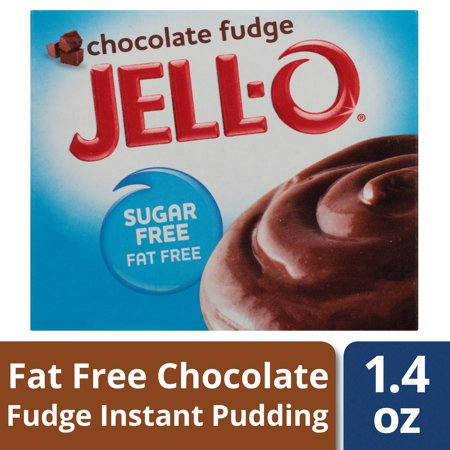 (4 Pack) Jell-O Sugar Free Chocolate Fudge Instant Pudding Mix, 1.4 oz Box
