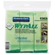 "Wypall Glass Cleaner - Cloth15.75"" Width X 15.75"" Length - 6 / Carton - Green (83630ct)"