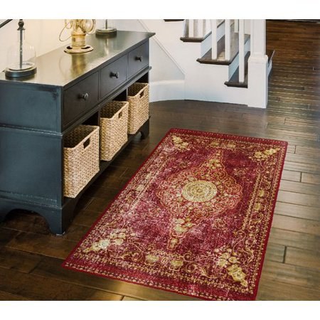 Bloomsbury Market Parkhurst Distressed Persian, Traditional Vintage Oriental Red Area - 1st Oriental Market