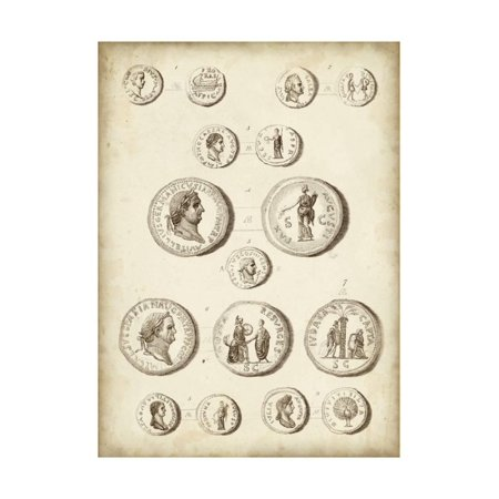 Antique Roman Coins III Print Wall Art