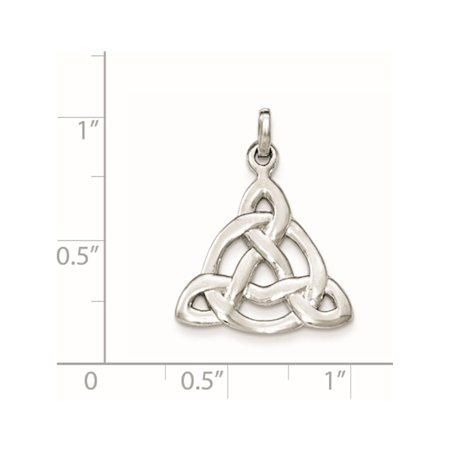 925 Sterling Silver Rhodium-plated Polished Celtic Symbol Pendant / Charm - image 1 of 2