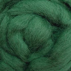 "Wool Roving 12"" .22oz-Moss"