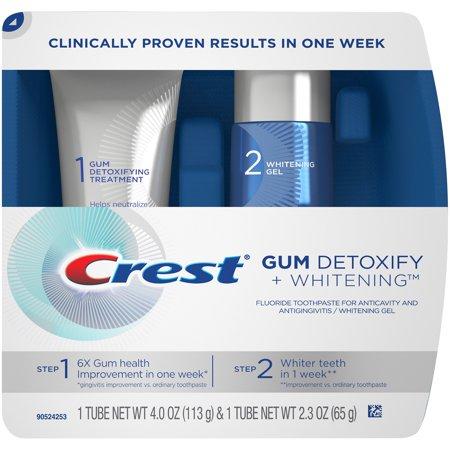 Crest Gum Detoxify + Whitening 2 Step Toothpaste - 4.0oz and 2.3oz