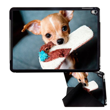Image Of Chihuahua Dog Puppy On Sofa Chair Holding A Chew Toy Apple Ipad Pro 9 7 Inch Smart Cover Tablet Case