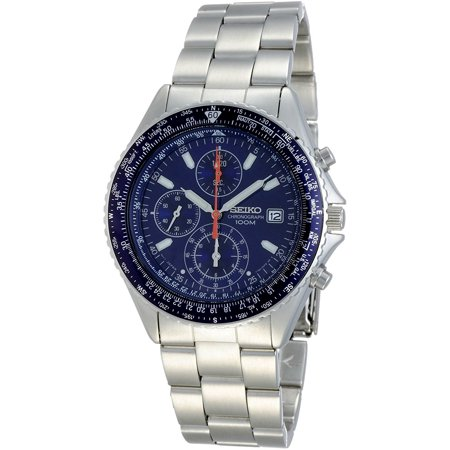 Seiko Men's SND255P1, Flightmaster Pilot Slide Rule Chronograph Stainless steel Case & Bracelet SND255 Seiko Mens Alarm Chronograph