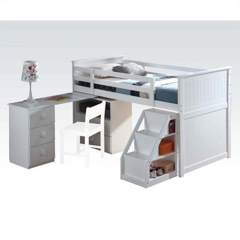 ACME Furniture Wyatt Loft Bed in White