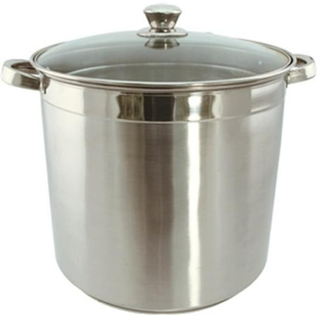 Usa, Inc. 3008 8 Qt. Heavy Duty Stainless Steel Stock Pot with Glass Lid Pack Of
