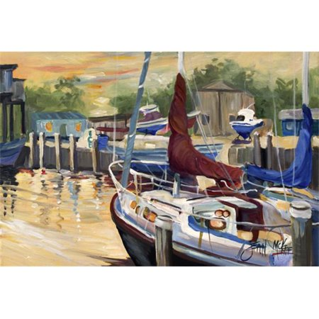 Carolines Treasures JMK1083PLMT New Sunset Bay Sailboat Fabric Placemat - image 1 de 1