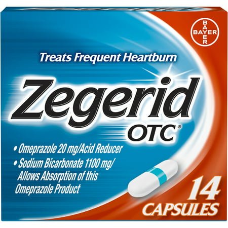 Zegerid OTC Heartburn Relief, Proton Pump Inhibitor, Capsules,