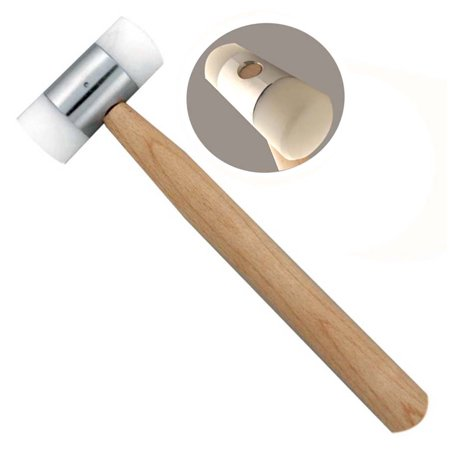 Nylon Dual Head Mallet With 1-1/4 Inch Striking Surface And Wooden Handle (Nylon Tenor Mallet)