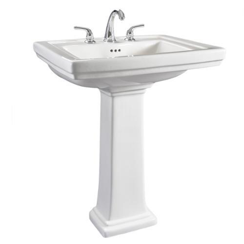 Hathaway Large Pedestal Sink Hathaway 6612 130 Large White Porcelain  Pedestal Bathroom Sink