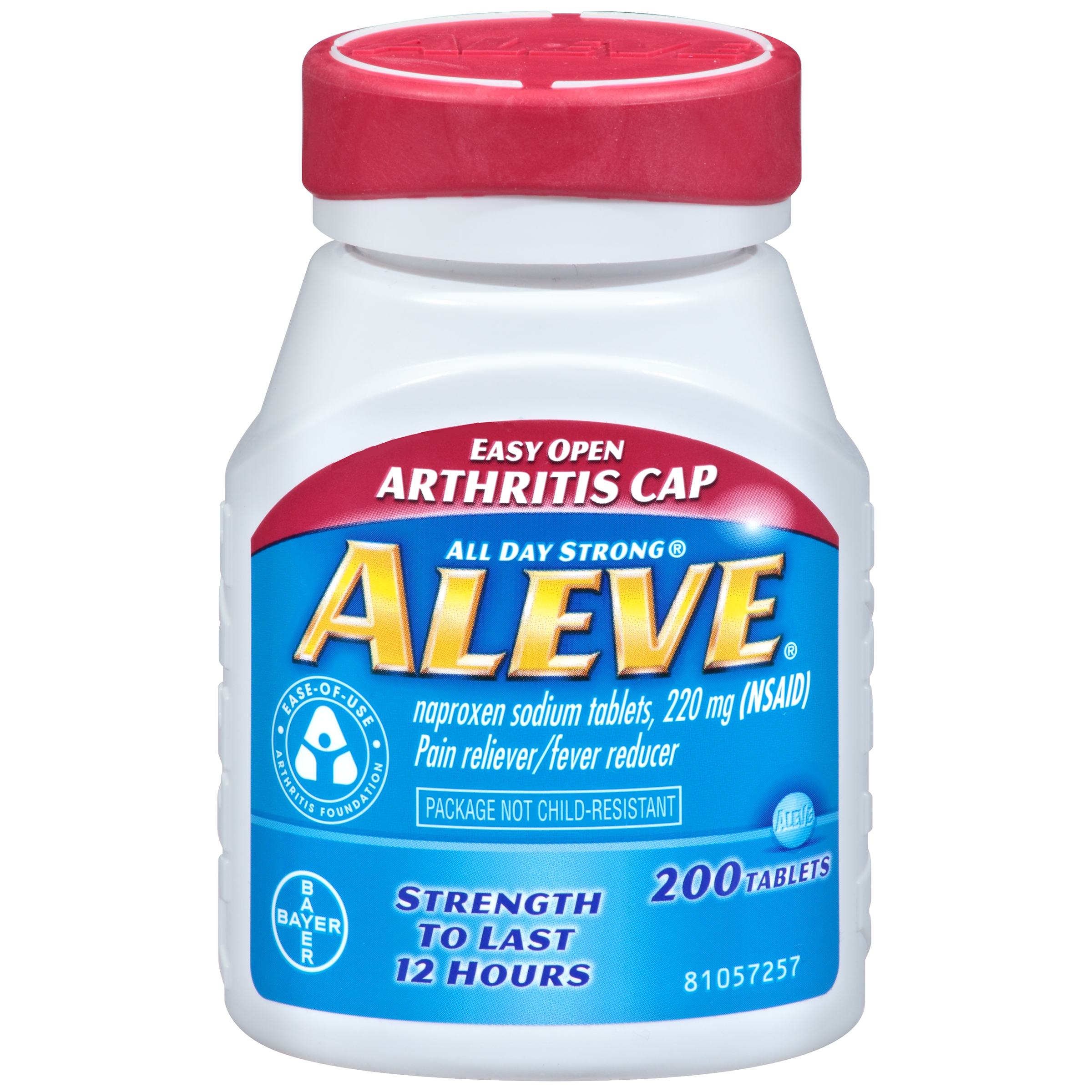 Aleve Easy Open Arthritis Cap Pain Relieverfever Reducer Naproxen