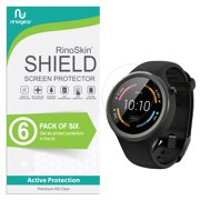 (6-Pack) Motorola Moto 360 Sport Screen Protector Full Coverage RinoGear Flexible HD Crystal Clear Anti-Bubble Unlimited Replacement Film