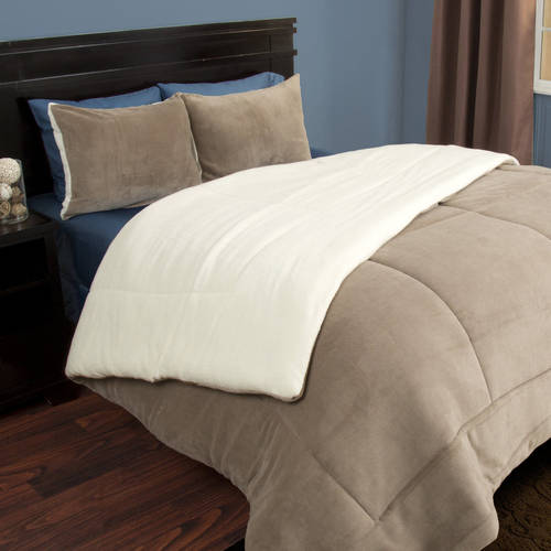 - Somerset Home Sherpa/Fleece Bedding Comforter Set