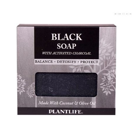 PACK OF 2-Plantlife Black Soap with Acitvated Charcoal -- 4.5