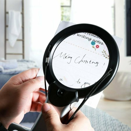6X/2X Magnifying Glass with Light for Reading, Hands Free Lighted Reading Magnifier, Large Optical 4.2