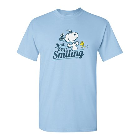 Peanuts Snoopy Just Keep Smiling T-Shirt, Officially Licensed](Peanuts Halloween Shirt)