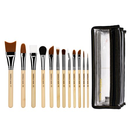Bdellium Tools Professional Makeup Brush Special Effects SFX Series - 12 pc. Brush Set with Double Pouch (2nd Collection) - Halloween Special Effects Makeup Tutorials