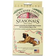 Seasonals Washable Dog Diaper, Fits Medium Dogs, Pink Flowers