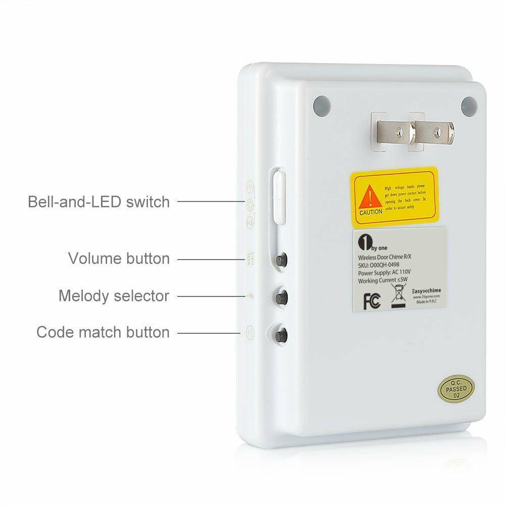 1byone Wireless Motion Sensor Alarm Alert System IP44 Waterproof Anti-theft lot