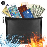 Fireproof Document Bags, Fire Safe Document Holder – Fireproof & Waterproof Safe Bag, ,Fireproof Safe Storage Pouch with Zipper,Silicone Coated Pouch for Your Documents, Files, Money & Jewelry - S/M/L
