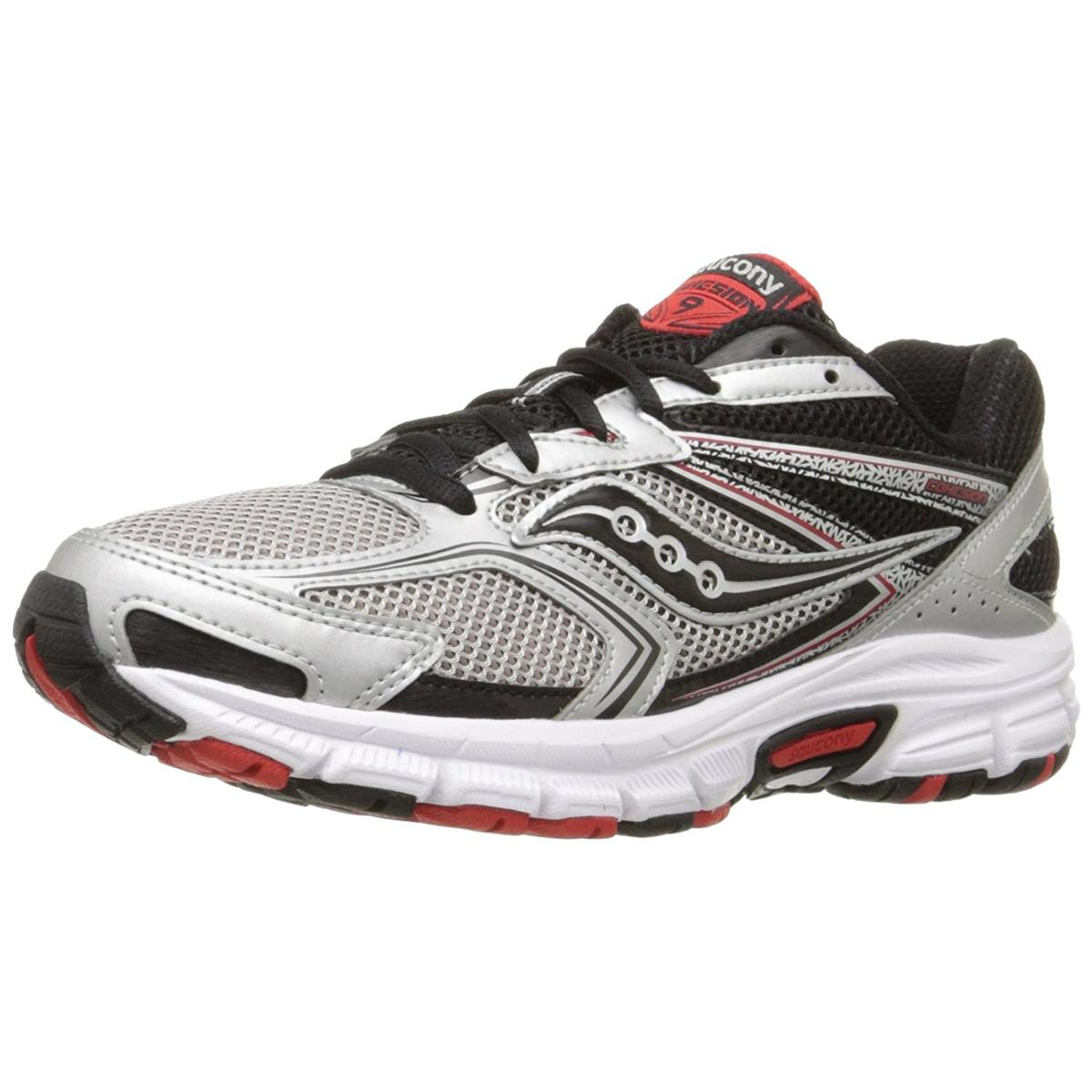 Saucony Grid Cohesion 9 Mens Silver Black Re Sneakers by Saucony