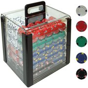 Trademark Poker 1000 13 Gram Professional Clay Casino Chips with Aluminum Case