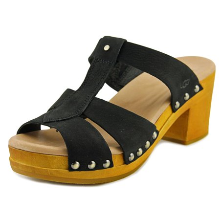 6a83cbe538f UGG Jennie Women Open Toe Leather Black Sandals
