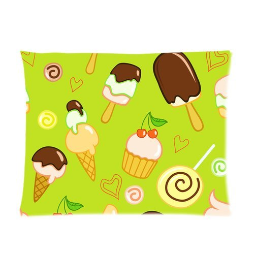 BPBOP Delicious Cakes And Icecream Picture Pillow Case