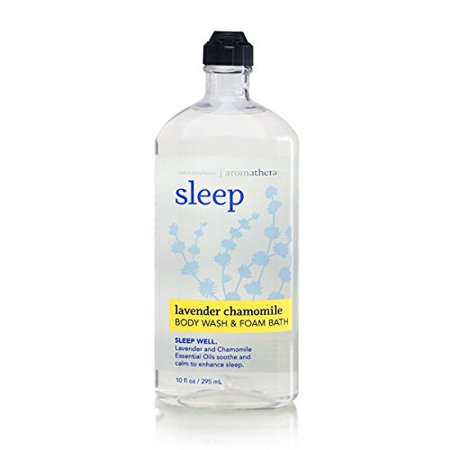 - Bath Body Works Aromatherapy Sleep Lavender Chamomile 10 oz Body Wash Foam Bath