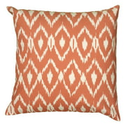 "Rizzy Home Fractured Ikat Cotton Decorative Throw Pillow, 18"" x 18"", Orange"