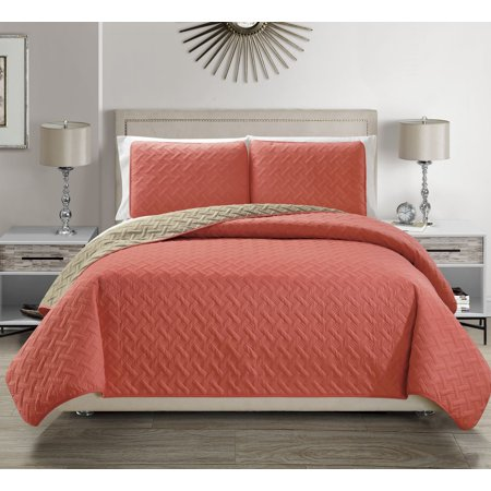 Victoria Embossed Ultra Soft Reversible Bedspread Set