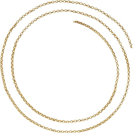 (Jewels By Lux 14K Yellow Gold 1.5mm Belcher Rolo 16