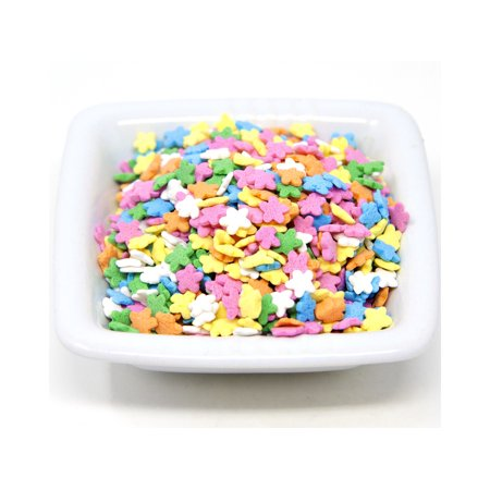 Oasis Supply, Easter and Spring,Cake Cupcake Topper Sprinkle Quins, 8 oz (Pastel Flower Shapes) - Sprinkles For Cupcakes