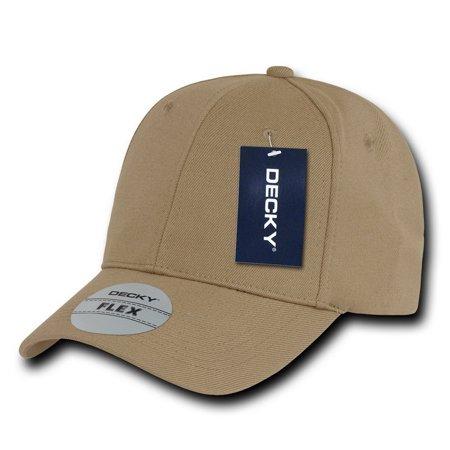 Decky 1016W 1 Size Curve Bill Flex Caps-Khaki