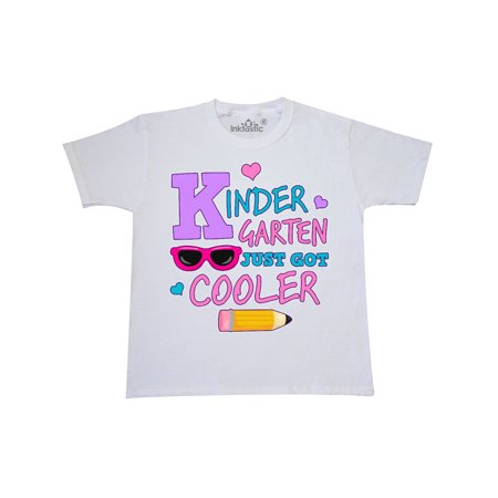Kindergarten Just Got Cooler with Pencil and Sunglasses Youth T-Shirt ()