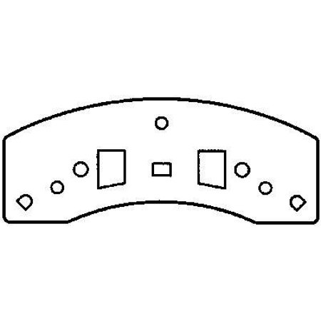 3500 Front Brake - Go-Parts OE Replacement for 1996-2002 Chevrolet Express 3500 Front Disc Brake Pad Set for Chevrolet Express 3500