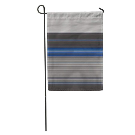 Fancy Thin (LADDKE Colorful Modern Gray and Blue Striped Cold Colors Straight Lines Thin Stripe Optical Fancy Pattern Garden Flag Decorative Flag House Banner 28x40 inch )
