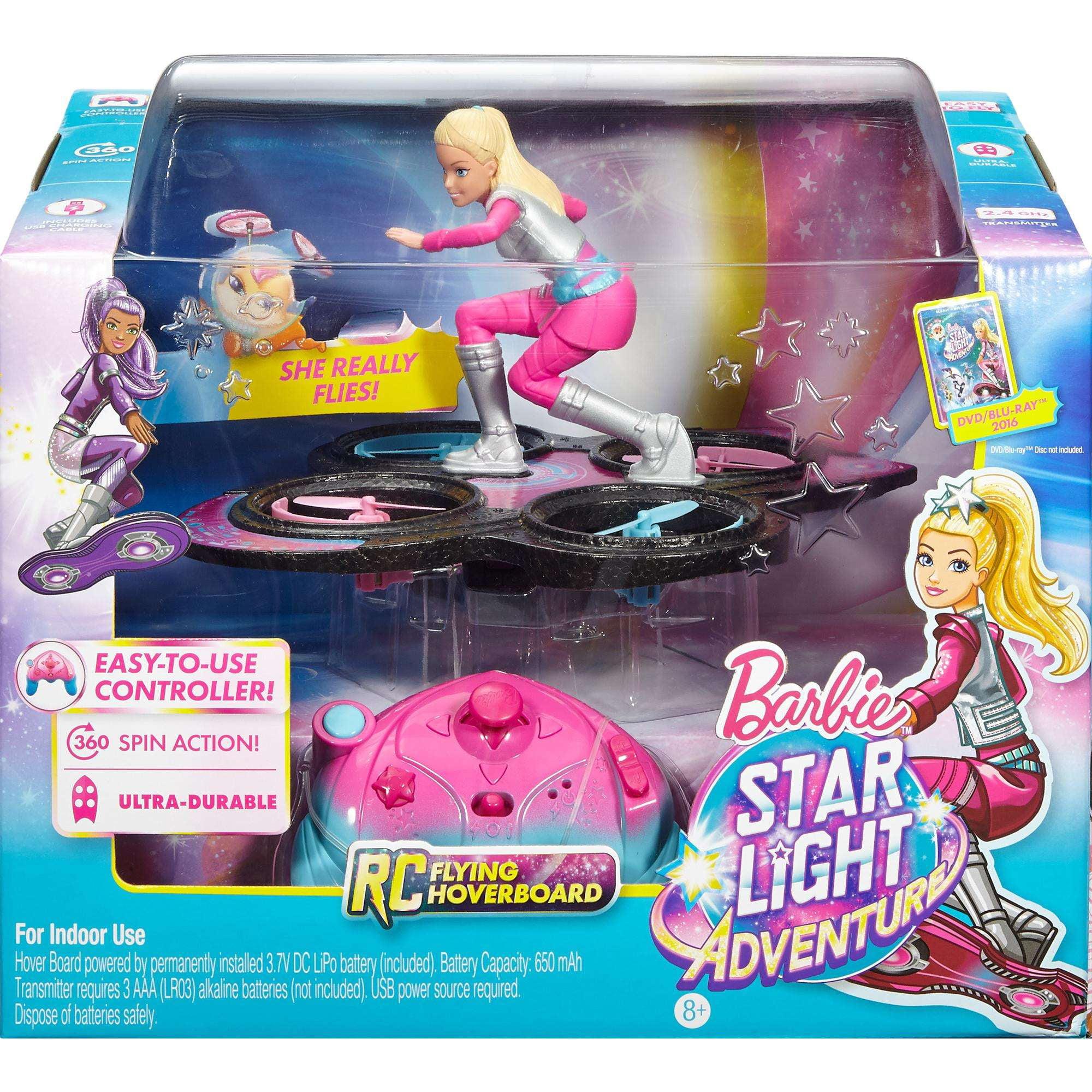 Barbie Star Light Adventure Flying RC Hoverboard - Walmart.com