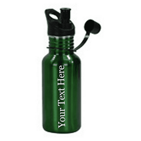 Customized 3D Laser Engraved Personalized 17 oz Custom Stainless Steel Water Bottle (Green) (Personalized Water Bottles No Minimum)