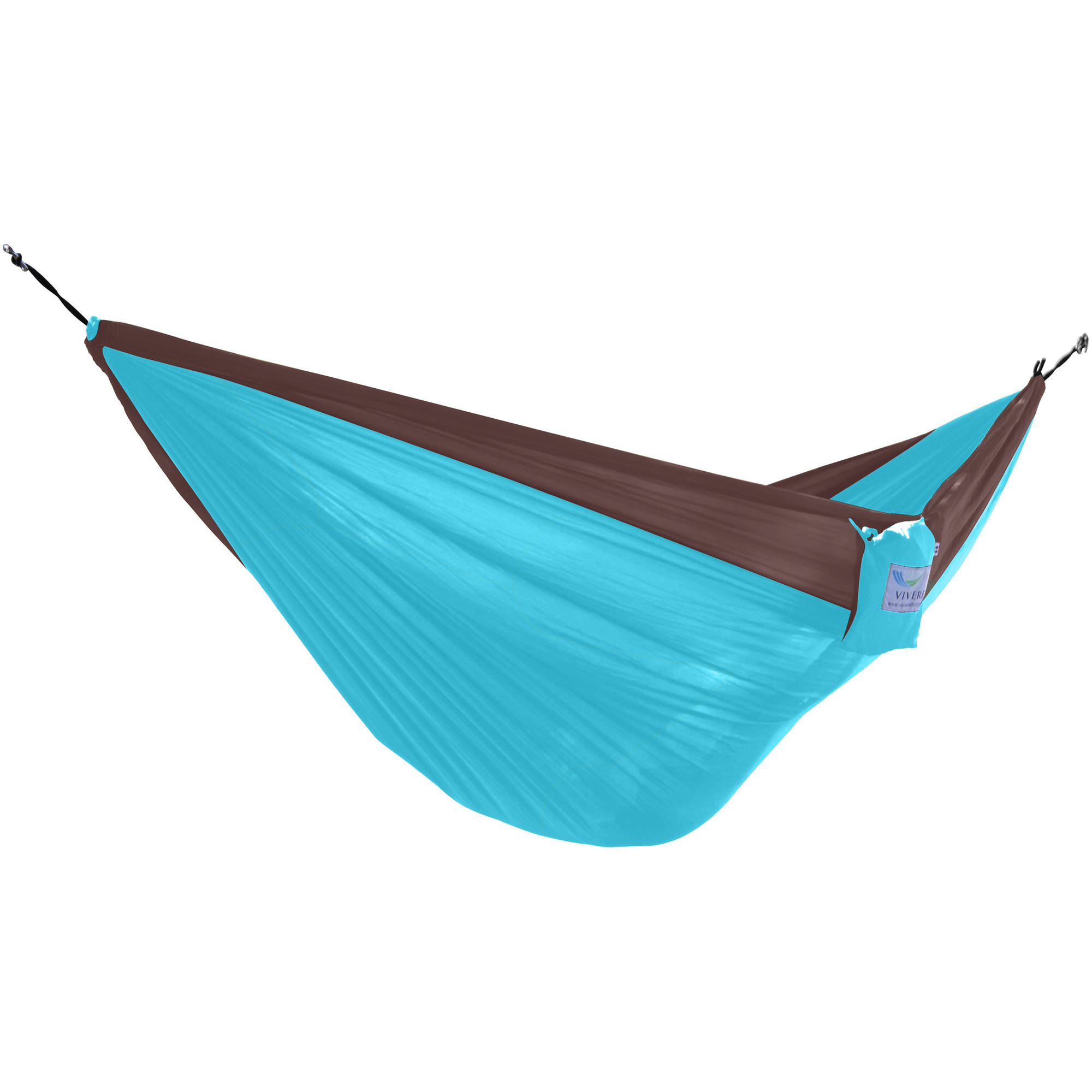 Parachute Hammock, Double (Chocolate Turquoise) by Vivere